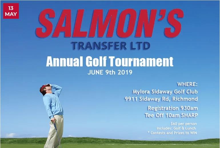 Salmon's Transfer Annual Golf Tournament